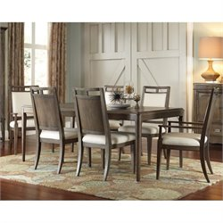 American Drew Park Studio 7 Piece Wood Dining Set in Taupe