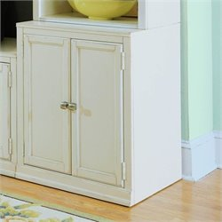 American Drew Camden Wood End Unit Base in Buttermilk Finish