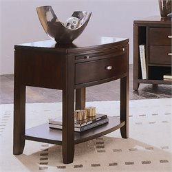 American Drew Tribecca 1 Drawer Leg Nightstand in Root Beer Finish
