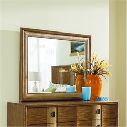 American Drew Grove Point Landscape Mirror in Warm Khaki