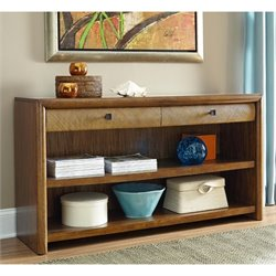 American Drew Grove Point 2 Drawer Wood Console Table in Warm Khaki