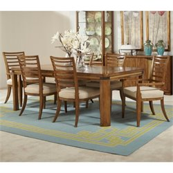 American Drew Grove Point 9 Piece Wood Dining Set in Warm Khaki