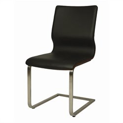 Pastel Furniture Charlize  Dining Chair in Black/Walnut Veneer