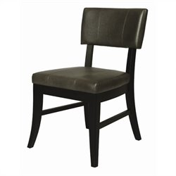 Pastel Furniture Eritrea  Dining Chair in Bonded Dark Gray Leather