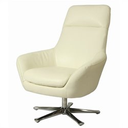 Pastel Furniture Ellejoyce Club Chair in Top Grain White Leather