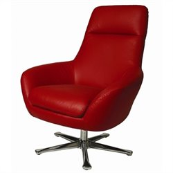 Pastel Furniture Ellejoyce Club Chair in Top Grain Red Leather