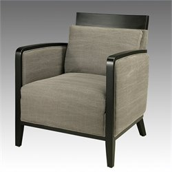 Pastel Furniture Elloise Club Chair in Linen Gray Fabric