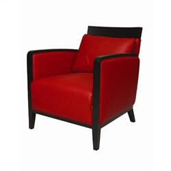 Pastel Furniture Elloise Club Chair in Top Grain Red Leather