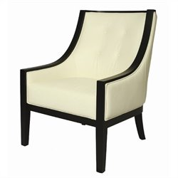 Pastel Furniture Eurowayne Leather Swayback Club Chair in White
