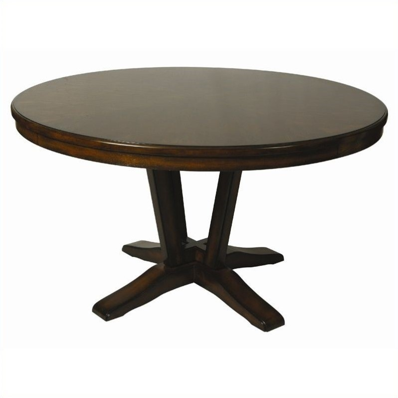 Pastel Furniture Devon Coast Round Wood Top Dining Table in Cherry