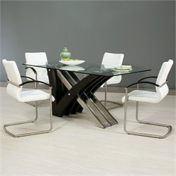 Pastel Furniture Akasha 5 Piece Dining Set