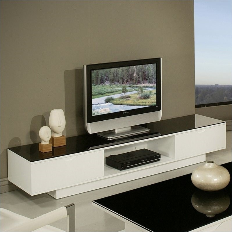 Pastel Furniture Kitano High Gloss TV Stand in White