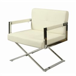 Pastel Furniture Decumani Club Chair in Pu Ivory