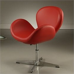 Pastel Furniture Le Parque Club Chair in Pu Red