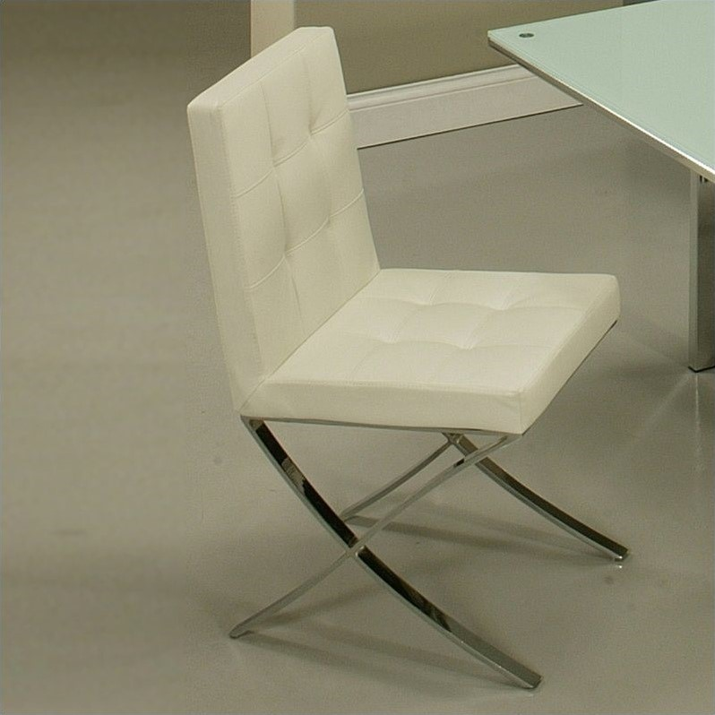Pastel Furniture Aria  Dining Chair in Pu Ivory