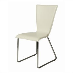 Pastel Furniture Maxima  Dining Chair in White PVC