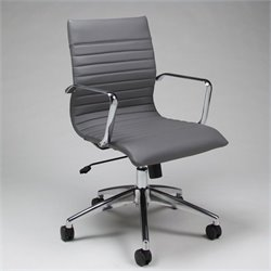 Pastel Furniture Janette Office Chair in Grey