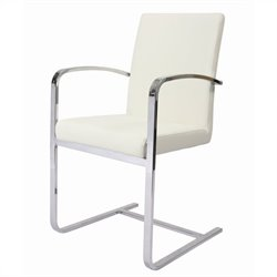 Pastel Furniture Monaco Arm Chair Upholstered in Pu Ivory