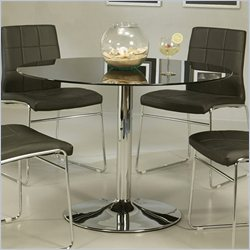 Pastel Furniture Sundance Round Dining Table in Black Glass