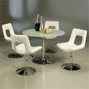 Pastel Furniture Sundance Frosted Glass 5 Piece Dining Set with Dublin Chairs