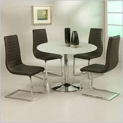 Pastel Furniture Sundance Frosted Glass 5 Piece Dining Set with Skyline Chairs