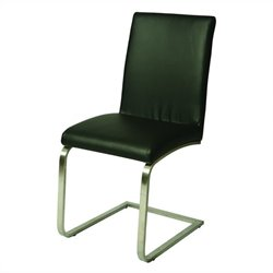 Pastel Furniture Monaco Upholstered Leather Dining Chair in Chrome