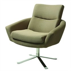 Pastel Furniture Aliante Upholstered Klein Dolphin Club Chair in Chrome