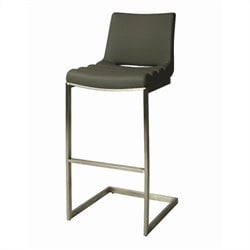Pastel Furniture Emily Bar Stool in Gray