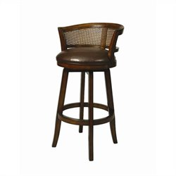 Pastel Furniture Grand Palace Swivel Bar Stool in Cherry