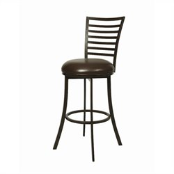 Pastel Furniture Yorkshire Swivel Bar Stool in Dark Mocha