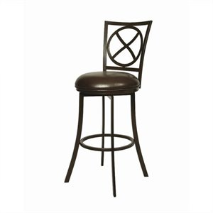 Pastel Furniture Zelenia Swivel Bar Stool in Dark Mocha