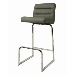 Pastel Furniture Zetta Bar Stool in Gray