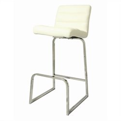 Pastel Furniture Zetta Bar Stool in Ivory