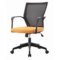 Pastel Furniture Bozano Office Chair in Orange