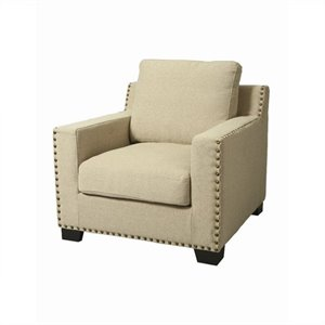 Pastel Furniture Aymara Upholstered Club Chair in Ivory