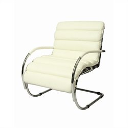 Pastel Furniture Zen Fabric Arm Chair in Ivory