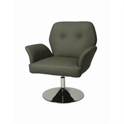 Pastel Furniture Zevi Upholstered Arm Chair in Gray