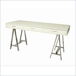 Pastel Furniture Fountainbleau Office Desk in White