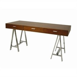 Pastel Furniture Fountainbleau Office Desk in Walnut