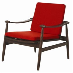 Pastel Furniture Freeport Upholstered Arm Chair in Red