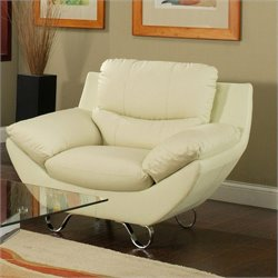 Pastel Furniture Mableton Upholstered Club Chair in Ivory
