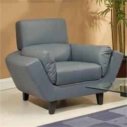 Pastel Furniture New Zealand Club Chair in Bonded Split Gray