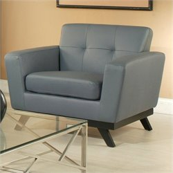 Pastel Furniture Qarchak Club Chair in Bonded Split Gray