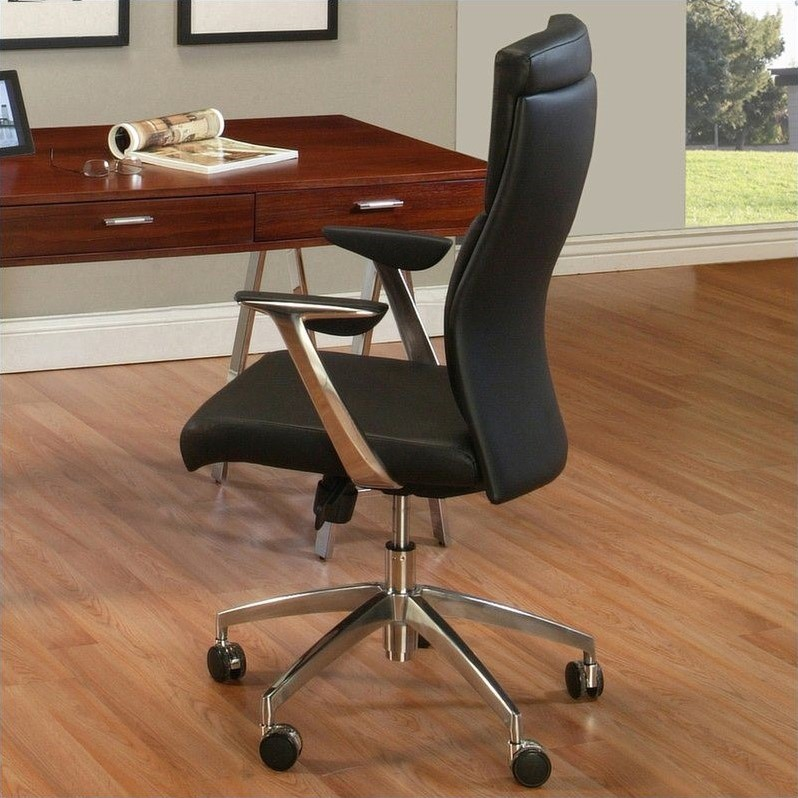 Pastel furniture new jersey office chair in black for Home gallery furniture new jersey