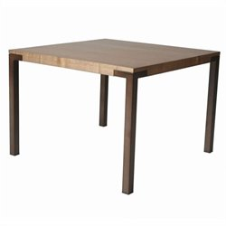 Pastel Furniture Amrita Square Dining Table in Coffee Brown and Walnut