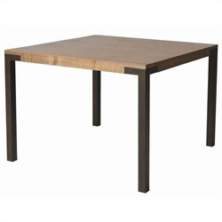 Pastel Furniture Amrita Square Dining Table in Autumn Rust and Walnut