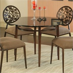 Pastel Furniture Brownsville Dining Table in Brown
