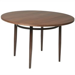 Pastel Furniture Brownsville Dining Table in Coffee Brown and Walnut