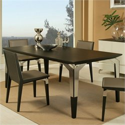 Pastel Furniture Tarifa Dining Table in Stainless Steel and Wenge