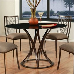 Pastel Furniture Valentijn Dining Table in Brown